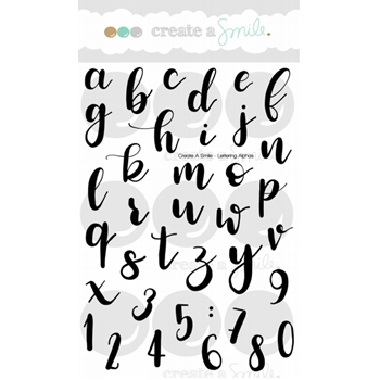 Create A Smile LETTERING ALPHAS Clear Stamps clcs74*