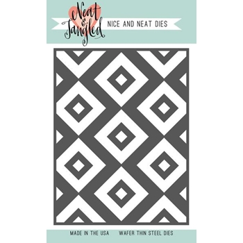 Neat and Tangled INLAID SQUARES Cover Plate Die NAT369