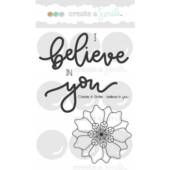 Create A Smile BELIEVE IN YOU MINI Clear Stamps clcs76*