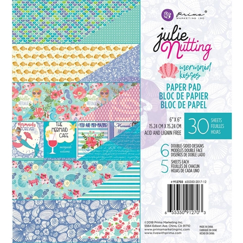 Prima Marketing MERMAID KISSES 6 x 6 Collection Kit Julie Nutting 912703 Preview Image