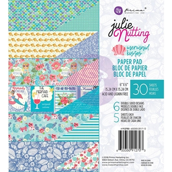Prima Marketing MERMAID KISSES 6 x 6 Collection Kit Julie Nutting 912703