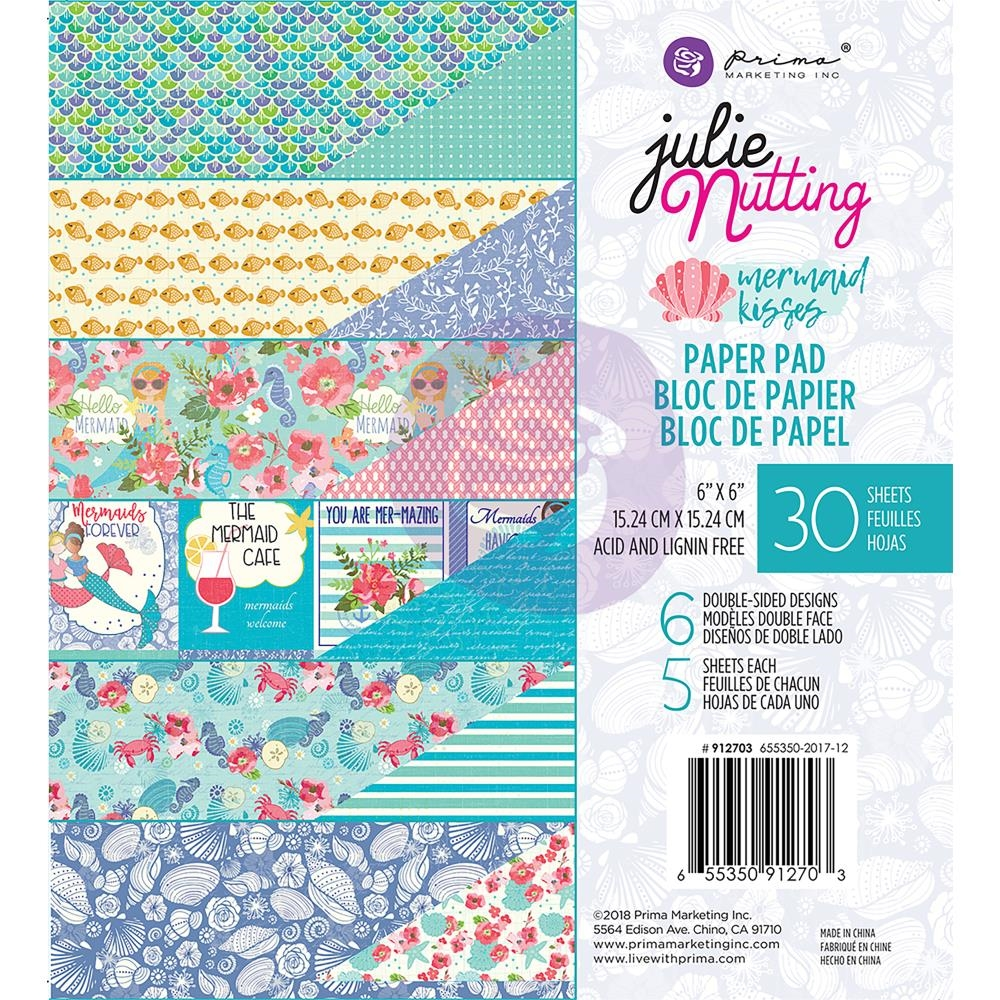 Prima Marketing MERMAID KISSES 6 x 6 Collection Kit Julie Nutting 912703 zoom image