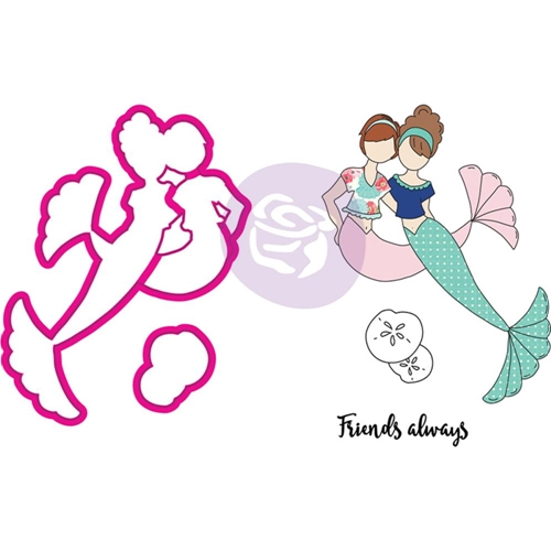 Prima Marketing BESTIES Cling Stamps & Dies Julie Nutting Mermaid Kisses 912567 Preview Image