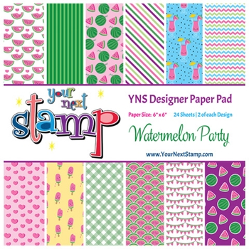 Your Next Stamp WATERMELON PARTY 6X6 Paper Pack ynspp022