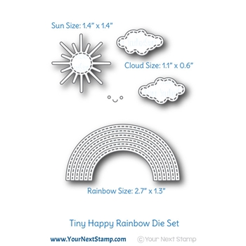 Your Next Die STITCHED HAPPY RAINBOW ynsd736