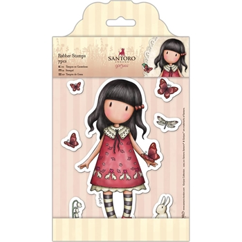 DoCrafts TIME TO FLY Cling Stamps Gorjuss London go907219*