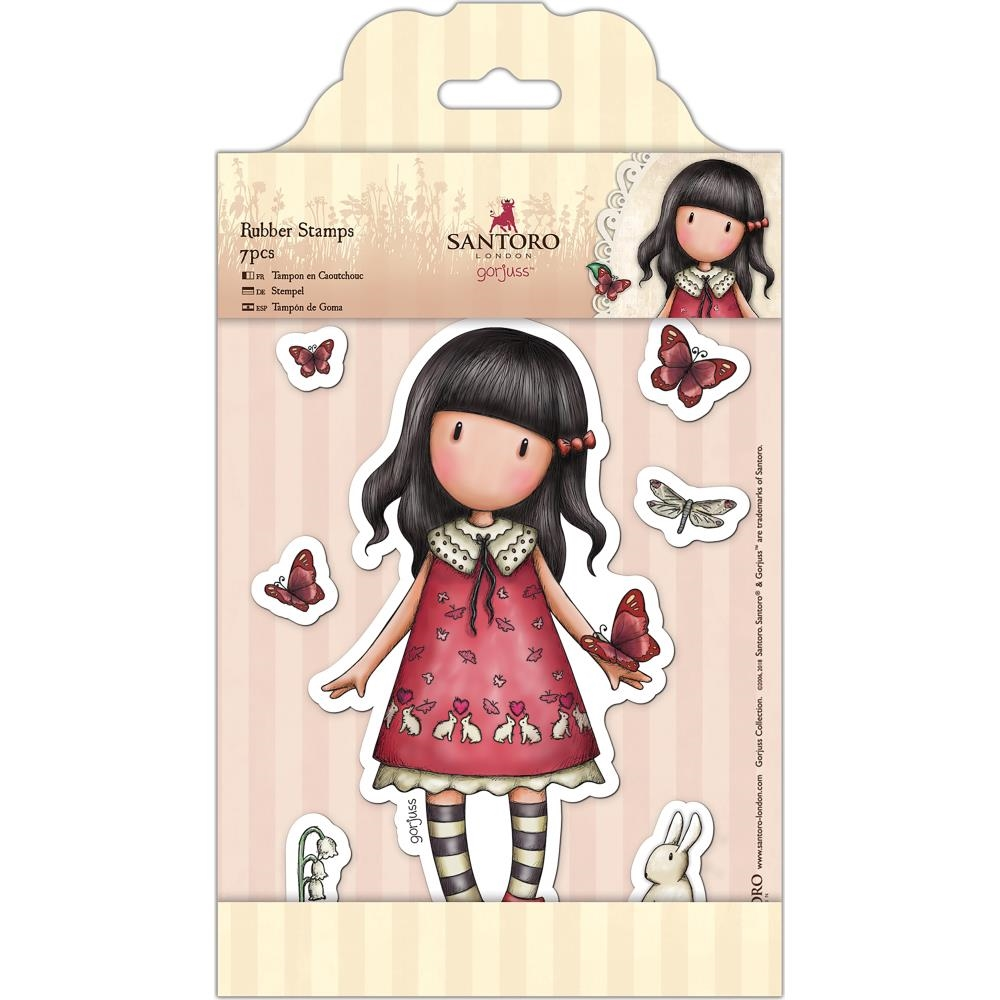 DoCrafts TIME TO FLY Cling Stamps Gorjuss London go907219 zoom image