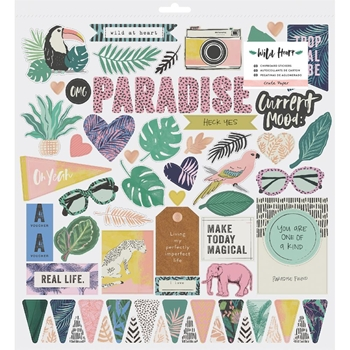 Crate Paper WILD HEART 12 x 12 Chipboard Stickers 344434