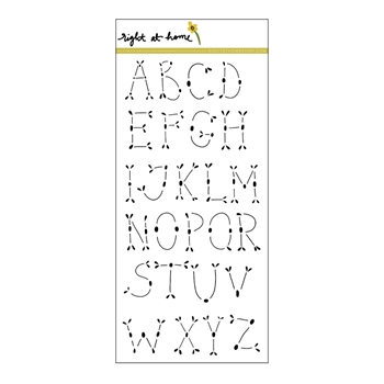 Right At Home FOLK ALPHABET DETAIL Clear Stamp 36045