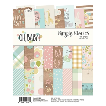 Simple Stories OH BABY 6 x 8 Paper Pad 10129