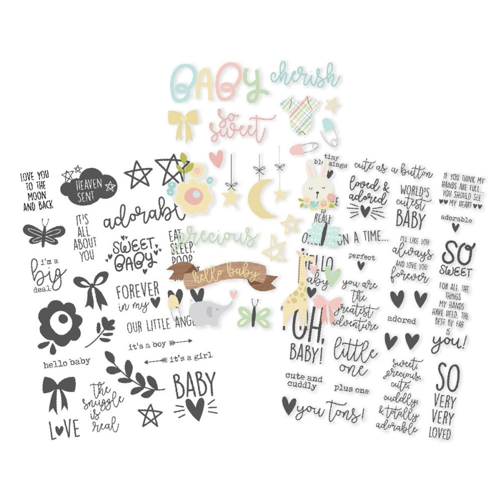 Simple Stories OH BABY Clear Stickers 10133 zoom image