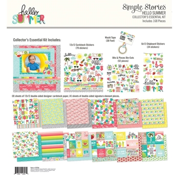 Simple Stories HELLO SUMMER 12 x 12 Collector's Essential Kit 10156