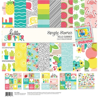 Simple Stories HELLO SUMMER 12 x 12 Collection Kit 10137