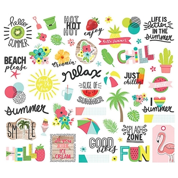 Simple Stories HELLO SUMMER Bits And Pieces 10153