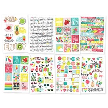 Simple Stories HELLO SUMMER 4 x 6 Stickers 10154
