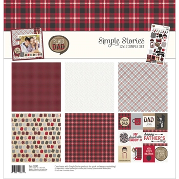 Simple Stories PLAID DAD 12 x 12 Collection Kit 10167