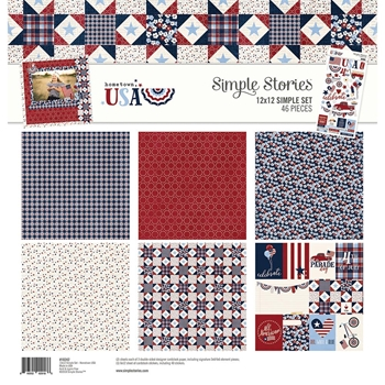 Simple Stories HOMETOWN USA 12 x 12 Collection Kit 10242