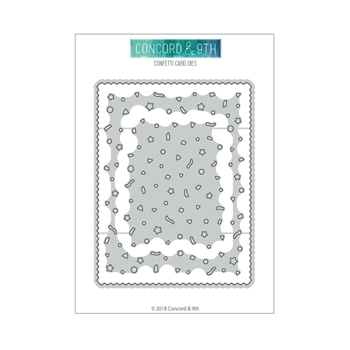 Concord & 9th CONFETTI CARD Dies 10390