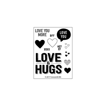 Concord & 9th LOVE AND HUGS Clear Stamp Set 10312