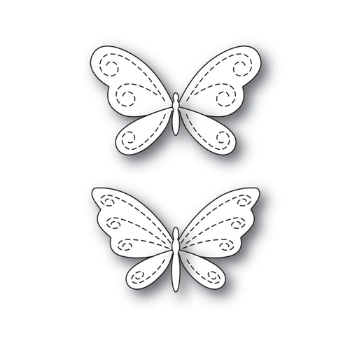 Simon Says Stamp STITCHING BUTTERFLIES Wafer Dies s546 Fluttering By Preview Image