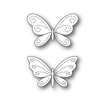 Simon Says Stamp STITCHING BUTTERFLIES Wafer Dies s546 Fluttering By