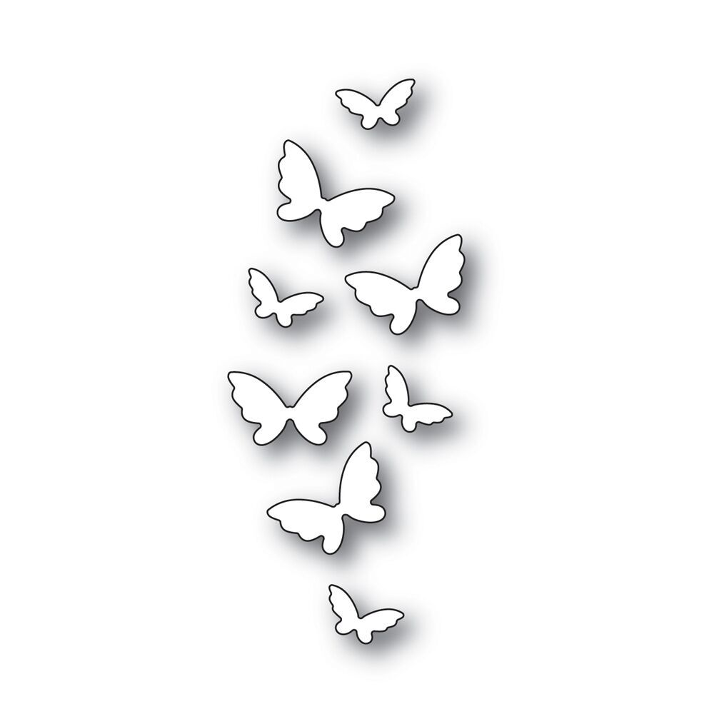 Simon Says Stamp FLICKERING BUTTERFLIES Wafer Dies s541 Fluttering By zoom image