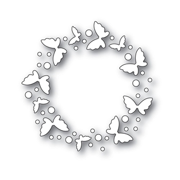 Simon Says Stamp FLICKERING BUTTERFLY CIRCLE Wafer Dies s543 Fluttering By