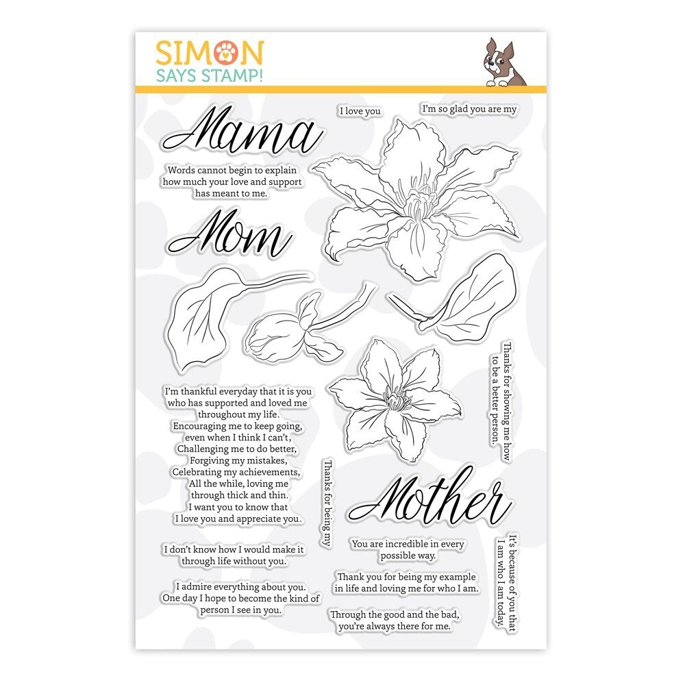 Simon Says Clear Stamps MOM'S CLEMATIS sss101860 zoom image