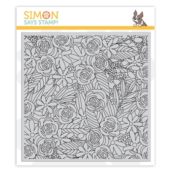 Simon Says Cling Rubber Stamp FLOWER EXPLOSION SSS101835