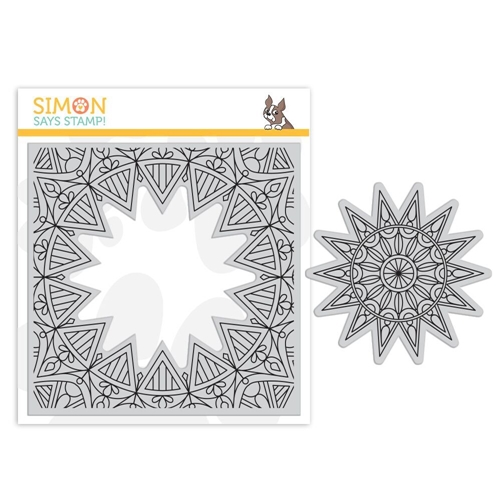Simon Says Cling Rubber Stamp CENTER CUT BURST sss101857 Fluttering By Preview Image