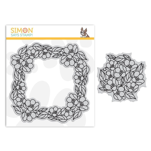 Simon Says Cling Rubber Stamp CENTER CUT FLOWERS Background sss101841 Fluttering By