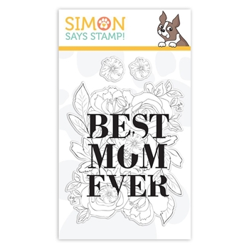 Simon Says Clear Stamps BEST MOM sss101859 Fluttering By