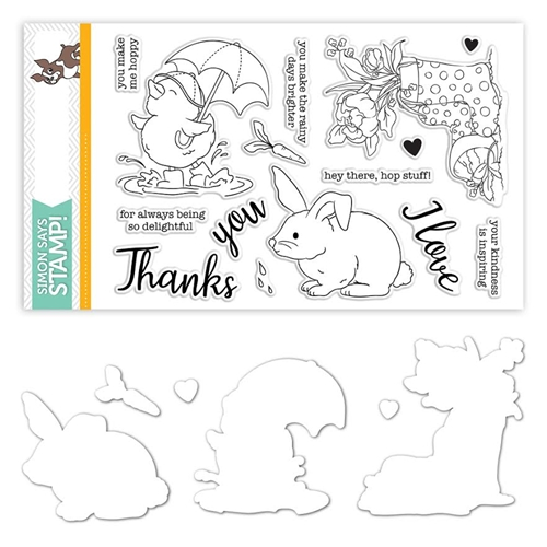 Simon Says Stamps And Dies SHOWERS AND FLOWERS set317sf Preview Image
