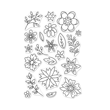 Hero Arts Clear Stamps FLOWERS FOR COLORING CM256