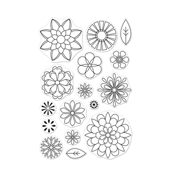 Hero Arts Clear Stamps BLOSSOMS FOR COLORING CM255