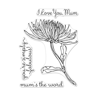 Hero Arts Florals Clear Stamp MUM STEM CM262