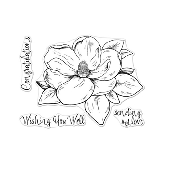 Hero Arts Florals Clear Stamp MAGNOLIA CM261