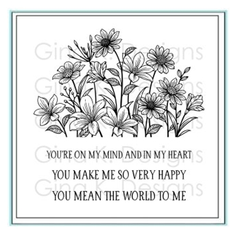 Gina K Designs ON MY MIND AND IN MY HEART Clear Stamps 5638