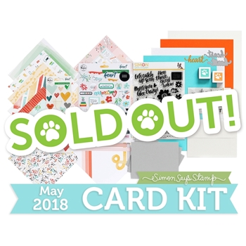 Simon Says Stamp Card Kit of The Month MAY 2018 KIND HEART ck0518