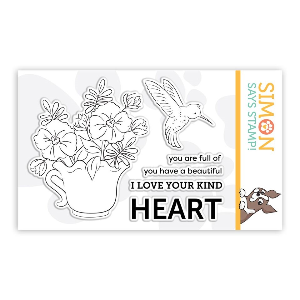 Simon Says Clear Stamps TAKE HEART sss101862 zoom image