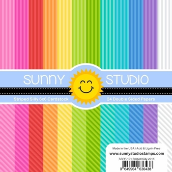 Sunny Studio STRIPED SILLY Paper Pad SSPP-101