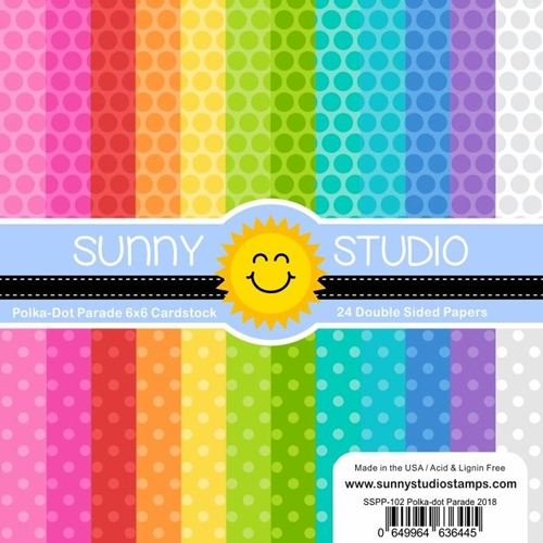 Sunny Studio POLKA DOT PARADE Paper Pad SSPP-102 Preview Image