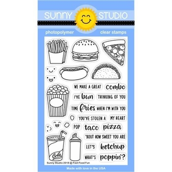 Sunny Studio FAST FOOD FUN Clear Stamp Set SSCL-195
