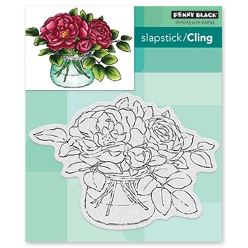 Penny Black Cling Stamp ROSE BOWL Rubber Unmounted 40-618
