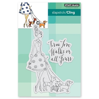 Penny Black Cling Stamp ALL FOURS Rubber Unmounted 40-606