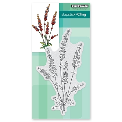 Penny Black Cling Stamp TRANQUIL BUDS Rubber Unmounted 40-599 zoom image
