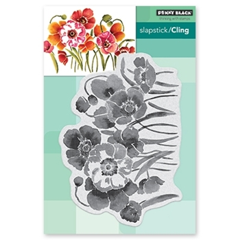 Penny Black Cling Stamp FLOWER FIELD Rubber Unmounted 40-594