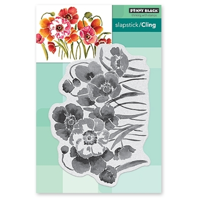 Penny Black Cling Stamp FLOWER FIELD Rubber Unmounted 40-594 zoom image