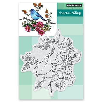 Penny Black Cling Stamp FLOWER PERCH Rubber Unmounted 40-593