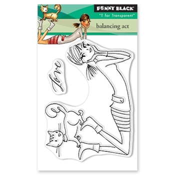 Penny Black Clear Stamps BALANCING ACT 30-487